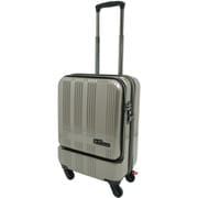 SK-0685-48 [スーツケース フロントオープン 旅行日数目安:1~2泊 35L TSAロック搭載 機内持ち込み可 ゴールド]