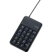 TK-TCM013BK [有線テンキーボード/Sサイズ/メンブレン/高耐久/ブラック]