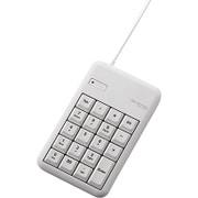 TK-TCM013WH [有線テンキーボード/Sサイズ/メンブレン/高耐久/ホワイト]