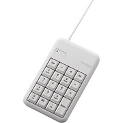 TK-TCM014WH [有線テンキーボード/Sサイズ/メンブレン/高耐久/USBハブ付/ホワイト]
