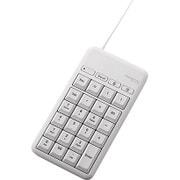 TK-TCM015WH [有線テンキーボード/Mサイズ/メンブレン/高耐久/USBハブ付/ホットキー付/ホワイト]