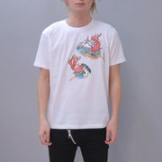 S-1789A [Tシャツ 団扇炎金魚 白 M]