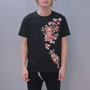 S-2441A [Tシャツ ワンピース 弁財天チョッパー 黒 3L]