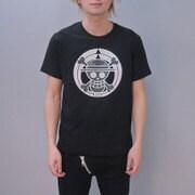 S-2450A [Tシャツ ワンピース 家紋海賊旗 黒 L]