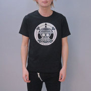 S-2450A [Tシャツ ワンピース 家紋海賊旗 黒 LL]