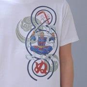 S-2497A [Tシャツ ワンピース 毘沙門天ゾロ 白 LL]