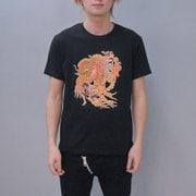 S-2682A [Tシャツ ワンピース 鳳凰エース 黒 M]