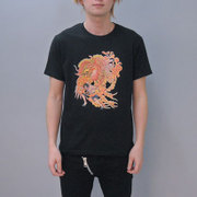 S-2682A [Tシャツ ワンピース 鳳凰エース 黒 L]