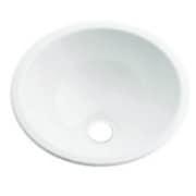 493-026-W [丸型手洗器 ホワイト]