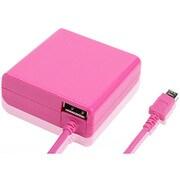 IACU-SP02PN [スマートフォン用 急速充電対応 2.4A出力 AC充電器+USBポート×1 1.8m ピンク]