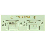 10295 [EF66用 運転室背面シール TOMIX製品対応]