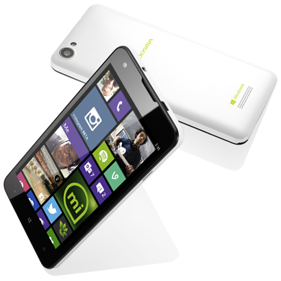 MADOSMA Q501-WH [SIMフリースマートフォン Windows Phone 8.1 Update 8GB+16GB microSD同梱]