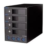 CRCH35E4IS [裸族のカプセルホテル eSATA 独立電源スイッチ搭載 eSATA×4接続 3.5インチSATA HDDケース]