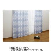 NDY-9 [遮熱ドレープカーテン 2枚組 ブルー ミッキーマウス 100×110cm]