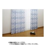 NDY-9 [遮熱ドレープカーテン 2枚組 ブルー ミッキーマウス 100×200cm]