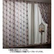 NDY-14 [遮熱ドレープカーテン 2枚組 ベージュ シンデレラ 100×230cm]