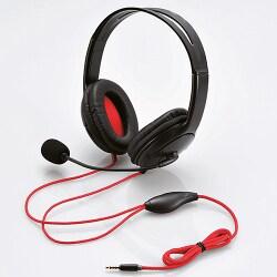 GM-HSHP26BK [4極ヘッドセットマイクロフォン 両耳オーバーヘッド 1.0m PS4用]