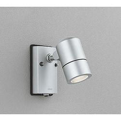 OG254586 [LEDエクステリアスポットライト 6W 人感センサ付 防雨型 ランプ別売 マットシルバー]