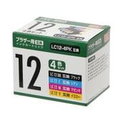 PP-BLC12-4P [ブラザー LC12-4P互換インク 4色パック]