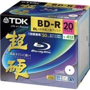 KBRV50HCPWB-20B [BD-R DL 20P 1-4倍速 片面2層 50GB 5mmスリムケース ワイドホワイト インクジェット対応]