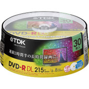 KDR215DPWB-30PB [DVD-R DL 30P CPRM対応 2-8倍速 スピンドルケース ワイドホワイト インクジェット対応]