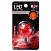 LDG1R-H-E12 12C [LED電球 E12口金 クリアレッド 0.5W]