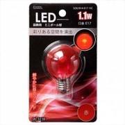 LDG1R-H-E17 13C [LED電球 E17口金 クリアレッド 1.1W]