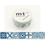 MTMINA29 [マスキングテープ mt×mina perhonen(ミナ ペルホネン) forest tile・blue 25mm幅×10m]