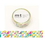 MT01D288 [マスキングテープ mt1P さんかく・ピンク 15mm幅×10m]