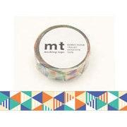 MT01D290 [マスキングテープ mt1P しまさんかく・ブルー15mm幅×10m]