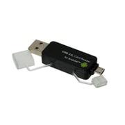 CRW-DSD63BK [USB 2.0対応 Android PC用 SD/micro SDカードリーダー ブラック]