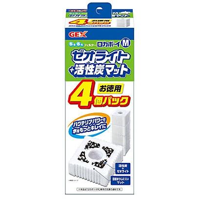 ロカボーイM [ゼオライト&活性炭マット 4個入り]