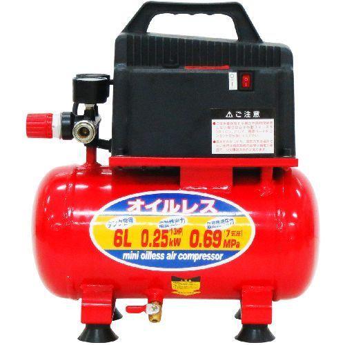 KML-60 6L [KNO ミニオイル レスコンプレッサー 6L]