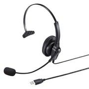 MM-HSU03BK [USBヘッドセット ブラック]
