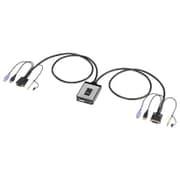 SW-KVM2DUN [ディスプレイエミュレーション対応 DVIパソコン自動切替器(2:1)]