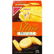 ナビスコ スリムサンド薄焼きクラッカー&チェダーチーズクリーム 3枚×6パック