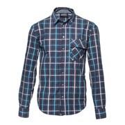 l/s shirt blue tone blue check XL [レンズキャップポケット レンズクロス付き 長袖シャツ サイズXL ブルー]