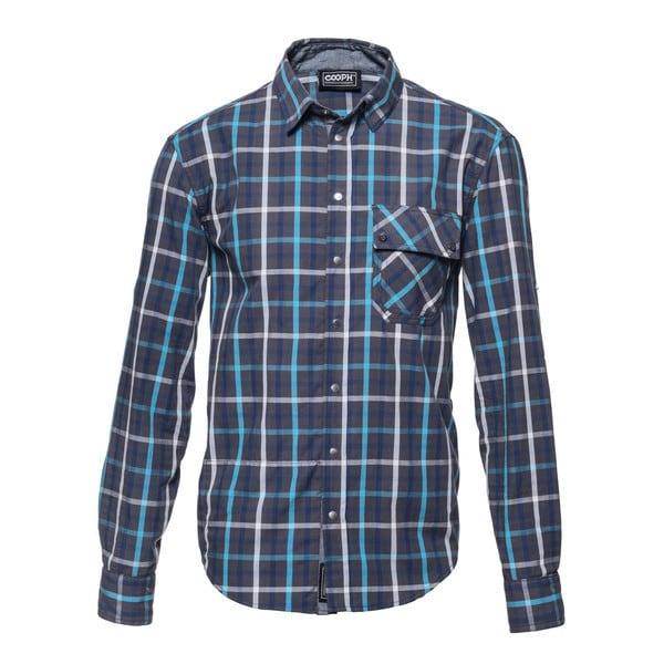 l/s shirt blue tone blue check XXL [レンズキャップポケット レンズクロス付き 長袖シャツ サイズXXL ブルー]
