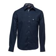 l/s shirt night sky blue M [レンズキャップポケット レンズクロス付き 長袖シャツ サイズM ブルー]