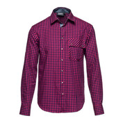 l/s shirt out there red check XL [レンズキャップポケット レンズクロス付き 長袖シャツ サイズXL レッド]