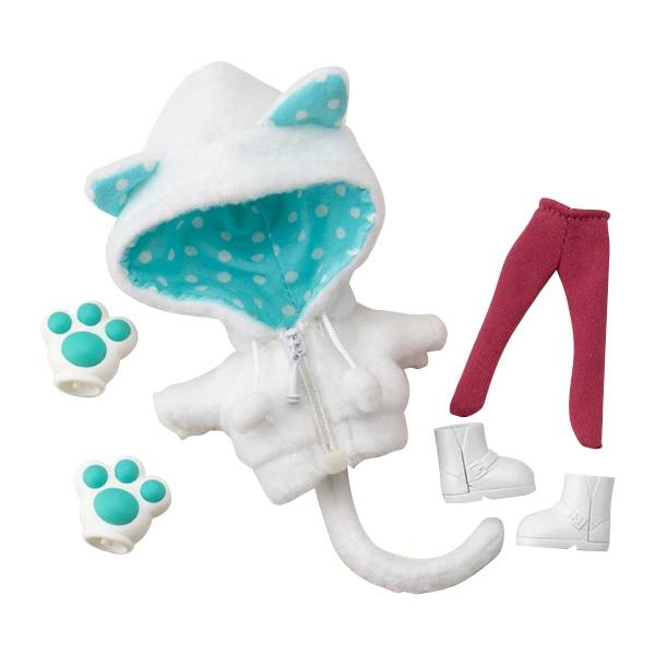 キューポッシュえくすとら あにまるパーカーセット 白猫 [ノンスケール フィギュア用アクセサリー 2019年12月再生産]