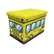 ストレージボックススツール スクールバス [子ども用 収納BOX]