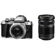 OM-D E-M10 Mark II EZダブルズームキット [ボディ シルバー+「M.ZUIKO DIGITAL ED 14-42mm F3.5-5.6 EZ シルバー」「M.ZUIKO DIGITAL ED 40-150mm F4.0-5.6 R ブラック」]