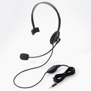 HS-HP21TBK [ヘッドセット 4極片耳オーバーヘッド ブラック]