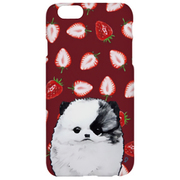 I6S06-15C631-06 [iPhone 6s TOUGT CASE Animal Series Pomeranian & Strawberry]