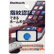OWL-HBIP01-BLBL [iPhone6 Plus/5s/iPad mini3/iPad Air2用 指紋認証機能対応ホームボタンシール ブルーフレーム/ブルー]