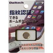 OWL-HBIP01-GOG [iPhone6 Plus/5s/iPad mini3/iPad Air2用 指紋認証機能対応ホームボタンシール ゴールドフレーム/ゴールド]