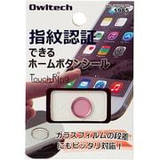 OWL-HBIP01-PKP [iPhone6 Plus/5s/iPad mini3/iPad Air2用 指紋認証機能対応ホームボタンシール ピンクフレーム/ピンク]