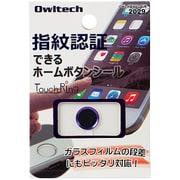 OWL-HBIP01-PUB [iPhone6 Plus/5s/iPad mini3/iPad Air2用 指紋認証機能対応ホームボタンシール パープルフレーム/ブラック]