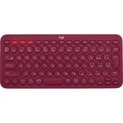 K380RD [マルチデバイス Bluetoothキーボード Windows/Mac/Chrome OS/Android/iOS/Apple TV用 レッド]
